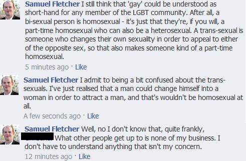 Samuel Fletcher's Facebook Rant