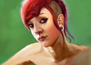 punk_girl_by_lucakong-d4tzw1l